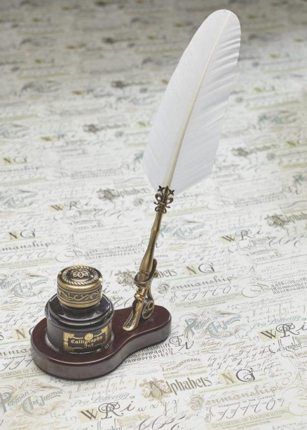 Luxe desk set ovaal wit